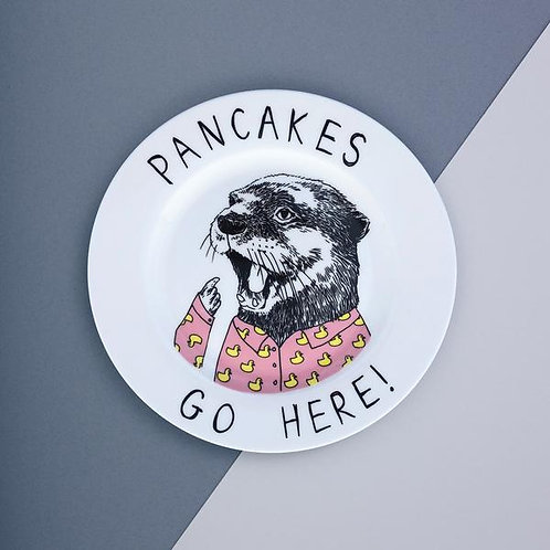 Pancakes go here - Side plate