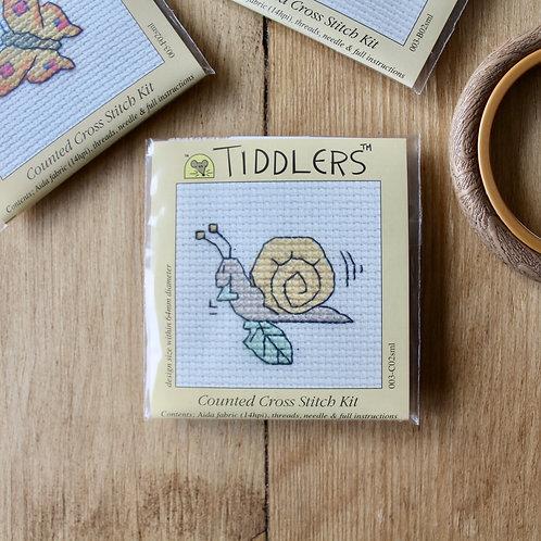 Snail - Tiddlers Cross Stitch