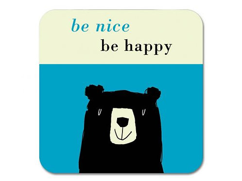 Happiness Bear Coaster - Turquoise