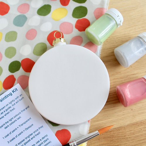 Flat Bauble Painting Kit