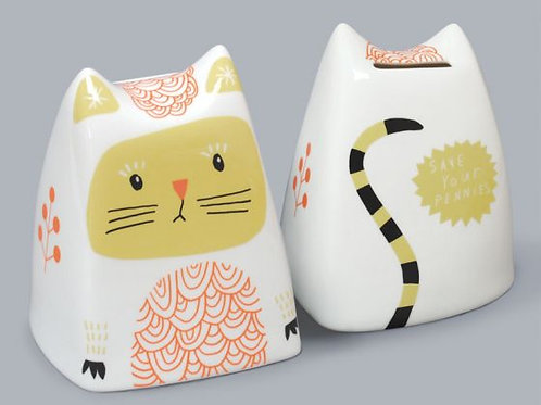 Clara The Cat Money Box - Green