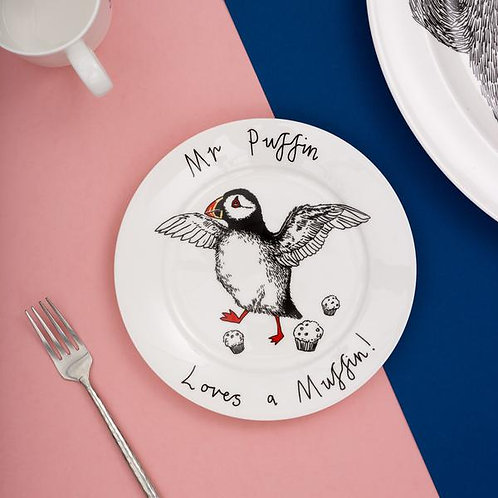 Mr puffin loves a muffin - Side plate