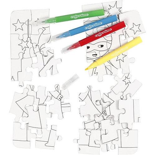 Super Hero Colouring Jigsaw