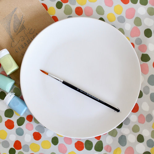 Flat Dinner Plate Painting Kit - Large