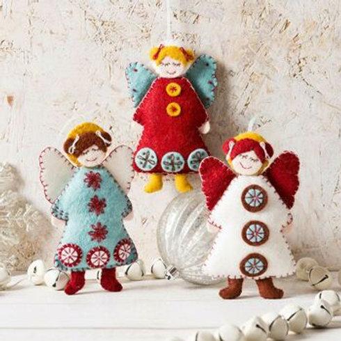 Scandinavian angels felt kit