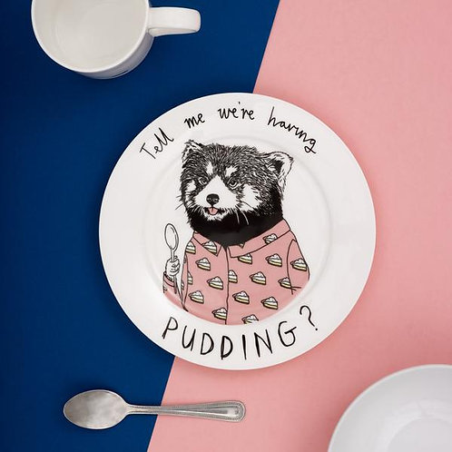 Tell me we're having pudding - Side plate