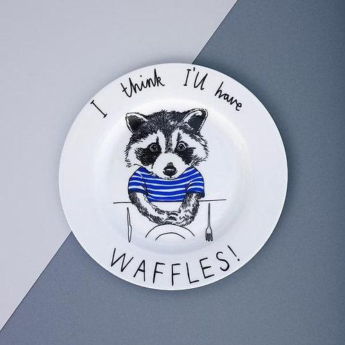 I think I'll have waffles - Side plate