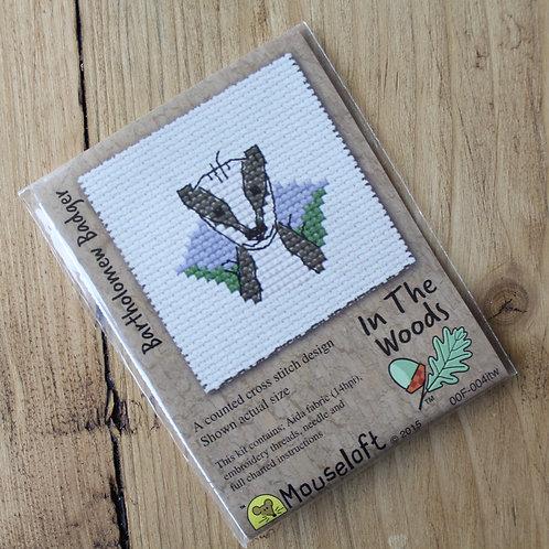 Bartholomew Badger - Stitchlet Cross Stitch