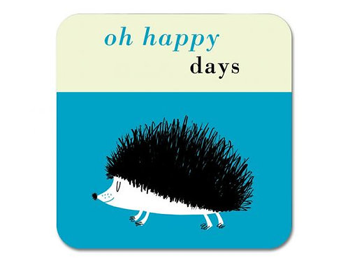 Happiness Hedgehog Coaster - Turquoise