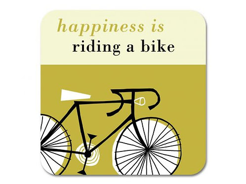 Happiness Bike Coaster - Olive