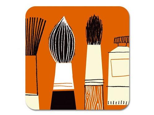 Brushes Coaster Orange