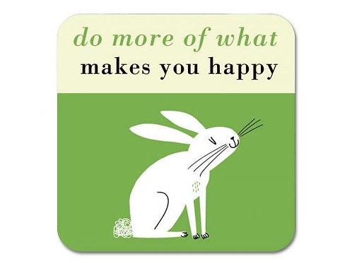 Happiness Rabbit Coaster - Green