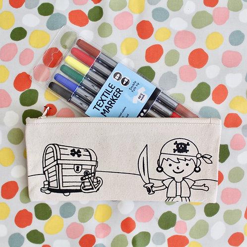 Colouring Kit- Pirate Pencil Case