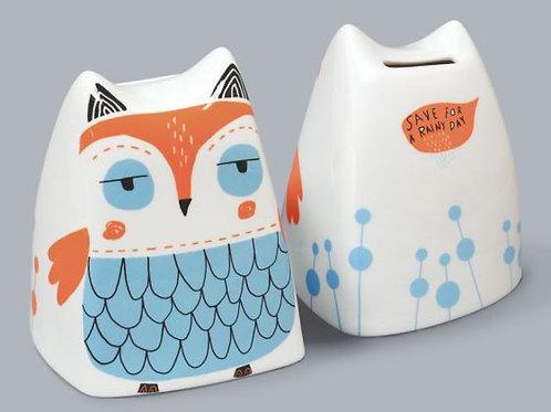 Olive The Owl Money Box - Blue