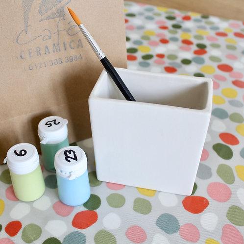 Rectangle Pot Painting Kit