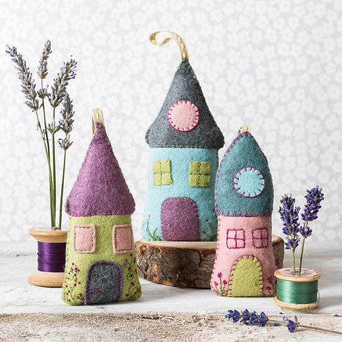 Lavender Houses felt craft kit