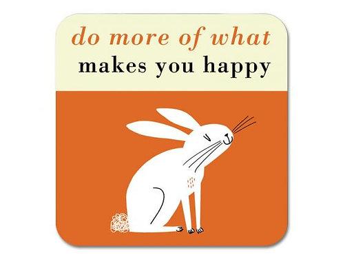 Happiness Rabbit Coaster - Orange
