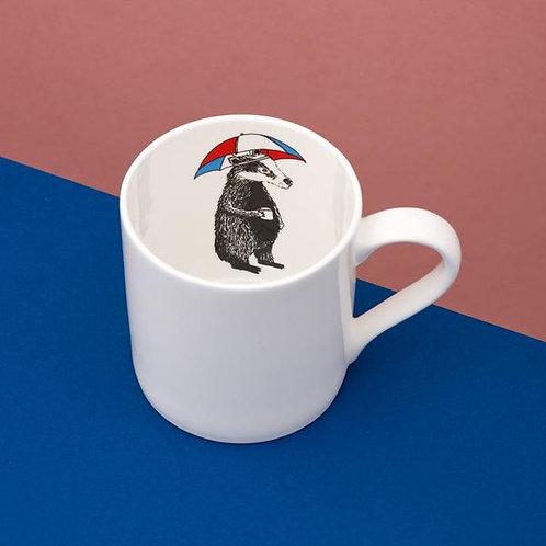 Mr Badger is inside your mug