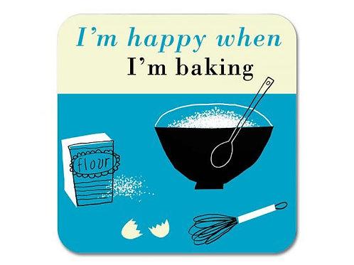 Happiness Baking Coaster - Turquoise