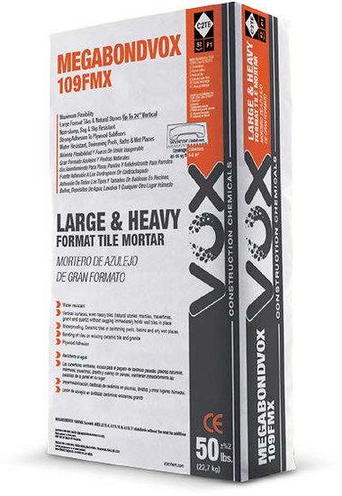 MEGABONDVOX 109FMX Waterproof Large Format Tile Thinset Mortar - White