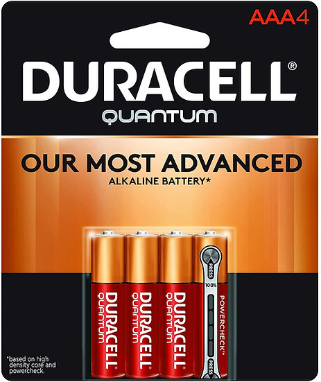 Duracell Quantum Alkaline AAA 4 Pack