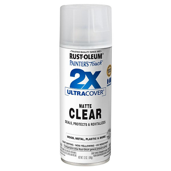 Rust Oleum 2x Spray Paint - Clear Matte