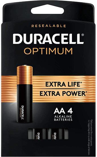 Duracell Optimum Alkaline AA 4 Pack