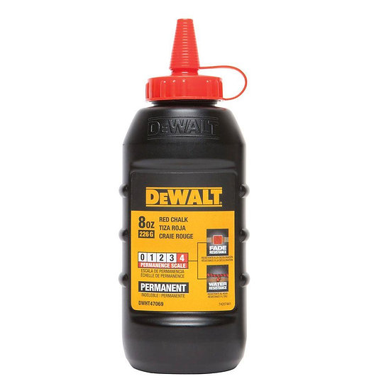 Dewalt Chalk 8 oz Permanent  - Red