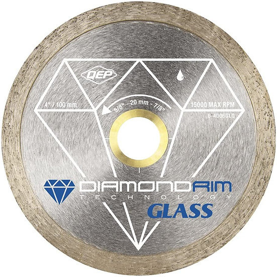 "4"" Continuous Rim Diamond Blade - Wet - Glass Series"