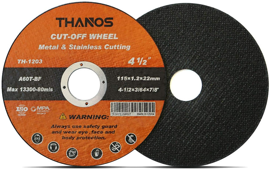 "THANOS Cut Off Wheel Cutting Wheel 4-1/2""x3/64""x7/8"" Metal&Stainless"