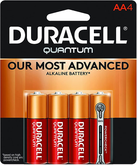 Duracell Quantum Alkaline AA 4 Pack
