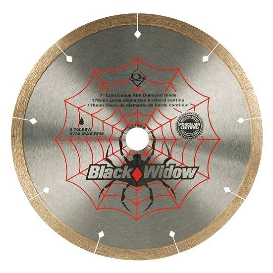 "7""  Black Widow® Diamond Blade - Wet - Ceramic, Porcelain, Marble, Granite"