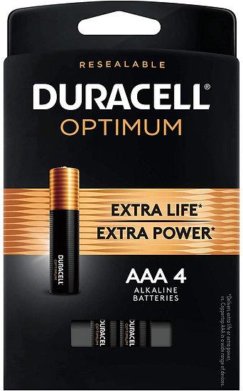 Duracell Optimum Alkaline AAA 4 Pack