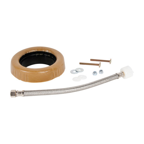 "Toilet Installation Kit with 12"" Connector"