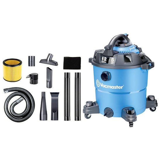 Vecmaster 12 Galon 5 HP Wet/Dry Vacuum