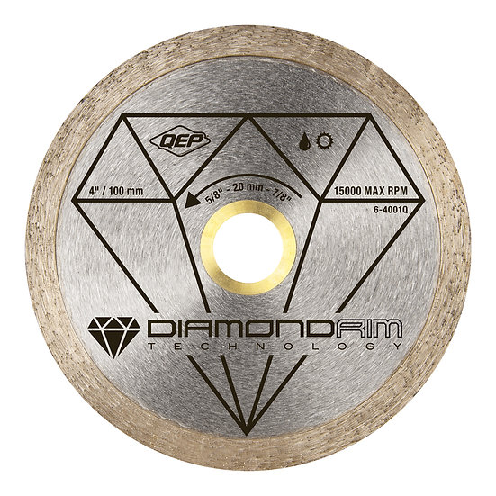 "4"" Continuous Rim Diamond Blade BLACK - Wet/Dry"
