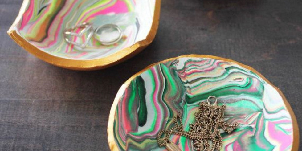D.I.Y. Marbled Clay Ring Dish