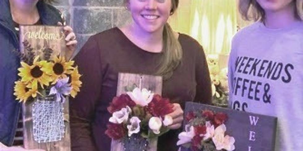 D.I.Y. Mason Jar & Flowers String Art