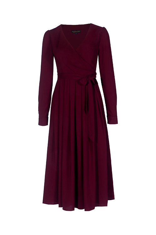 Wickelkleid Lilian bordeaux