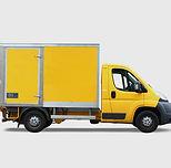 黄色の配達用トラック