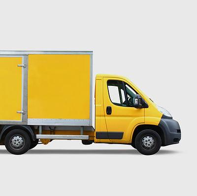 Camion de livraison Jaune