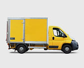 Yellow Delivery Truck
