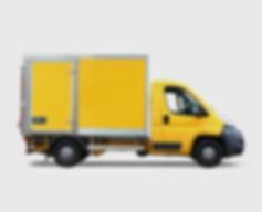 Caminhão de entrega amarelo