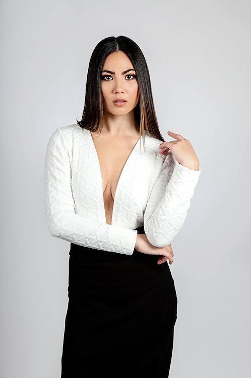 V Bodysuit & Skirt