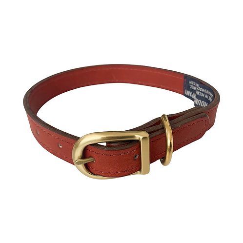 RUST LEATHER COLLAR