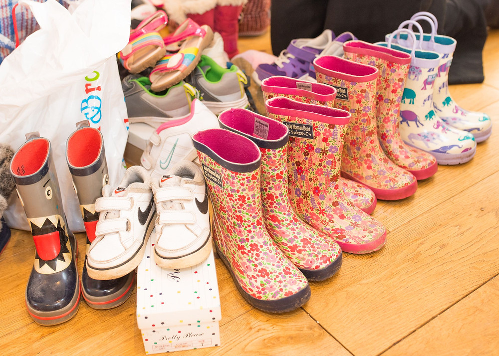 Childrens wellies and shoes