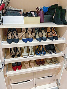 Organised shoe and bag collection