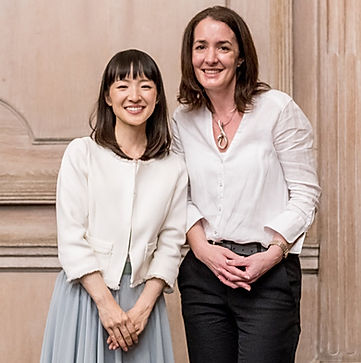Marie Kondo and Sue Spencer at the London KonMari seminar in 2018. Sue Spencer is a Certified KonMari Consultant and owner of A Life More Organised