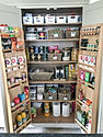 Organised kitchen cupboard