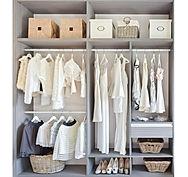 Organised decluttered ladies wardrobe
